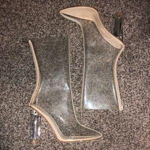 Public desire Perspex heels size 9